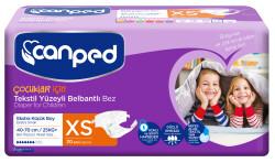 Canped - Canped Belbantlı Tekstil Yüzeyli Hasta Bezi Ekstra Küçük (XS) - 30 Adet