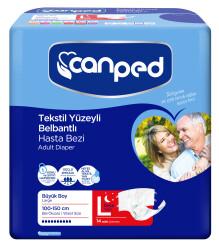 Canped - Canped Belbantlı Tekstil Yüzeyli Hasta Bezi Gece (L) - 14 Adet