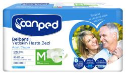 Canped - Canped Belbantlı Yetişkin Hasta Bezi Orta (M) - 30 Adet