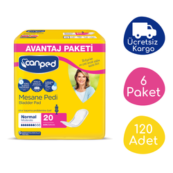 Canped - Canped Mesane Pedi Avantaj Paket (Normal) - 120 Adet