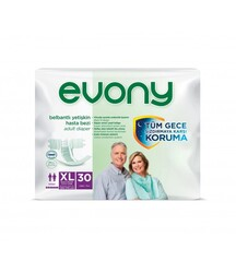 Evony - Evony Belbantlı Yetişkin Hasta Bezi Ekstra Large 30 Adet