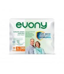 Evony - Evony Belbantlı Yetişkin Hasta Bezi Large 30 Adet