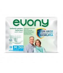 Evony - Evony Belbantlı Yetişkin Hasta Bezi Medium 30 Adet