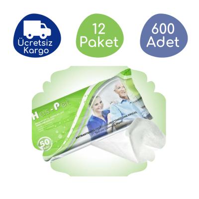 Haspet Antibakteriyel Perine Bölge Temizleme Havlusu (12 Paket - 600 Adet)