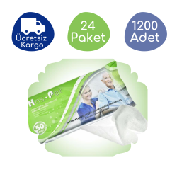 Haspet - Haspet Antibakteriyel Perine Bölge Temizleme Havlusu (24 Paket - 1200 Adet)