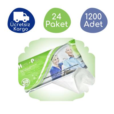 Haspet Antibakteriyel Perine Bölge Temizleme Havlusu (24 Paket - 1200 Adet)