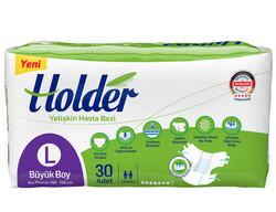 Holder - Holder Belbantlı Yetişkin Hasta Bezi Büyük (L) 30 Adet