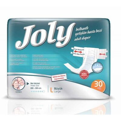 Joly Belbantlı Hasta Bezi Large (Büyük Boy) 30 Adet